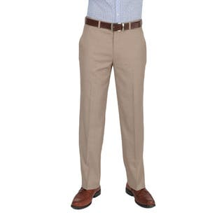 Dockers Essentials Men's Cross Hatch Flat Front Straight Fit Tan Pant|https://ak1.ostkcdn.com/images/products/10529033/P17611488.jpg?impolicy=medium