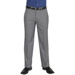 Dockers Essentials Men's Cross Hatch Flat Front Straight Fit Med Grey Pant