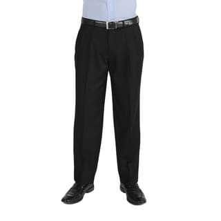 Dockers Essentials Men's Cross Hatch Pleated Straight Fit Black Pant