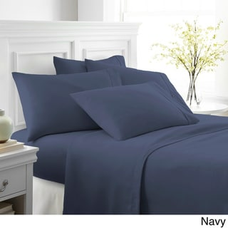 Merit Linens Ultra-soft 6-piece Bed Sheet Set (Navy - Twin Xl)
