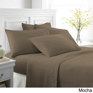 Merit Linens Ultra-soft 6-piece Bed Sheet Set (Mocha - Twin)