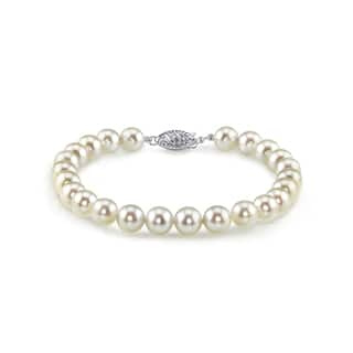 Radiance Pearl 14k Gold AAA-quality White Akoya Pearl Bracelet (7-7.5mm)|https://ak1.ostkcdn.com/images/products/10529106/P17611553.jpg?impolicy=medium
