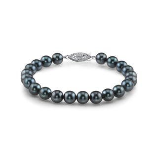 Radiance Pearl 14k Gold AAA-quality Black Akoya Pearl Bracelet (6-6.5mm)|https://ak1.ostkcdn.com/images/products/10529112/P17611558.jpg?impolicy=medium