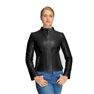 Women's Mason and Cooper Skye Leather Moto Jacket