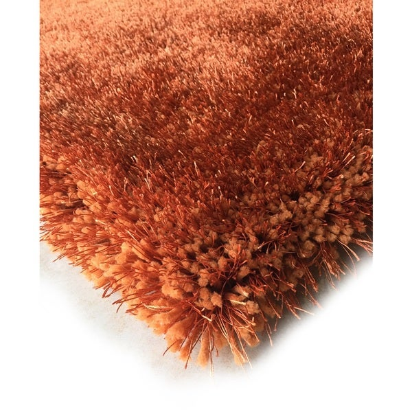 Shop Handmade Orange Rust Shag Area Rug 5 X 7 On