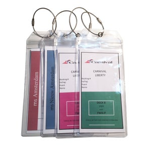 Russotti Design Cruise Luggage Tag Holders (Set of 4)