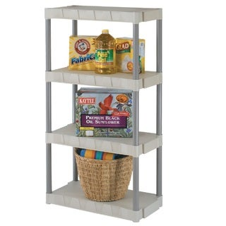 "Plano 4 Shelves Interlocking Shelf Unit -31""x16"" Taupe & Tan"