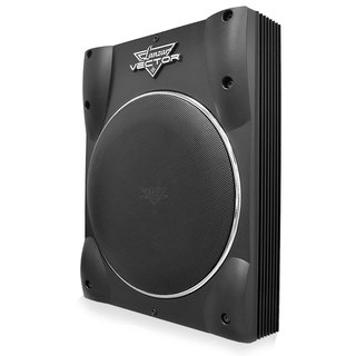 Lanzar VCTBS8 Vector 8-inch Ultra Slim 600 Watt High Power Amplified Subwoofer Enclosure