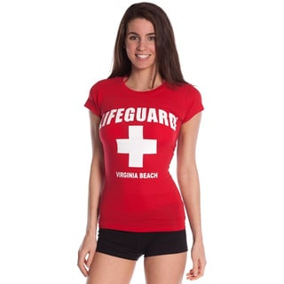 Lifeguard Juniors' Red Logo Design Print T-Shirt