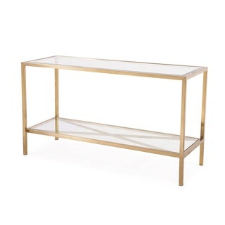 Gardner Console Table, Antique Gold