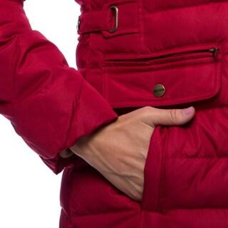 Larry Levine Down Coat With Removable Faux-Fur Trim Hood
