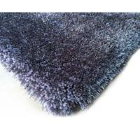 Handmade Grey Shag Area Rug (5' x 7')