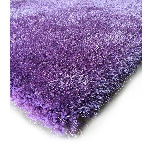 Handmade Lavender Shag Area Rug (5' x 7')