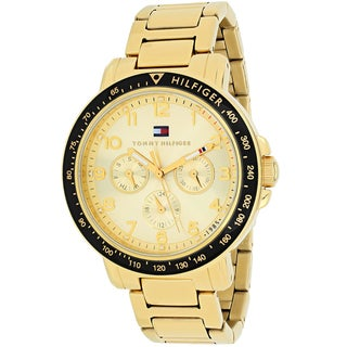 Tommy Hilfiger Women's 1781514 Sport Round Goldtone Stainless Steel Bracelet Watch