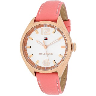 Tommy Hilfiger Women's 1781516 Sport Round Pink Leather Strap Watch
