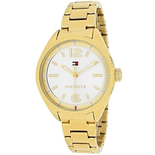 Tommy Hilfiger Women's 1781520 Sport Round Goldtone Stainless Steel Bracelet Watch