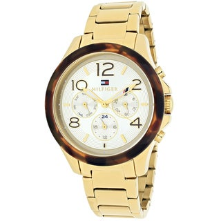 Tommy Hilfiger Women's 1781527 Sport Round Goldtone Stainless Steel Bracelet Watch