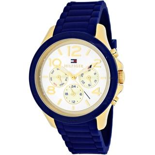 Tommy Hilfiger Women's 1781523 Sport Round Blue Silicone Strap Watch
