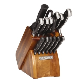 Sabatier 15 Piece Forged Triple Rivited Acacia Block