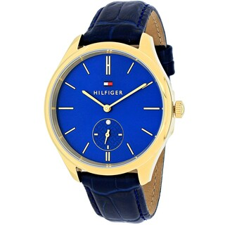 Tommy Hilfiger Women's 1781575 Sofia Round Blue Leather Strap Watch
