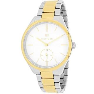 Tommy Hilfiger Women's 1781577 Sofia Round Two-tone Stainless Steel Bracelet Watch