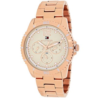 Tommy Hilfiger Women's 1781584 Tessa Round Rose Gold-tone Stainless Steel Bracelet Watch