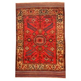 Herat Oriental Afghan Hand-knotted Tribal Balouchi Wool Rug (2'10 x 4'4)