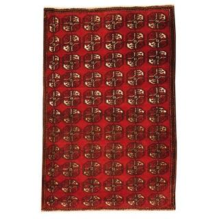 Herat Oriental Afghan Hand-knotted Tribal Balouchi Wool Rug (2'8 x 4')