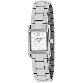 Coach Women's 14501490 Carlisle Mini Square Silvertone Stainless Steel Bracelet Watch
