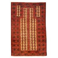 Handmade Herat Oriental Afghan Tribal Balouchi Wool Rug  - 2'10 x 4'5 (Afghanistan)