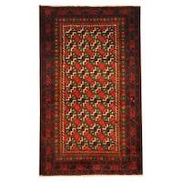 Handmade Herat Oriental Afghan Tribal Balouchi Wool Rug  - 2'9 x 4'8 (Afghanistan)