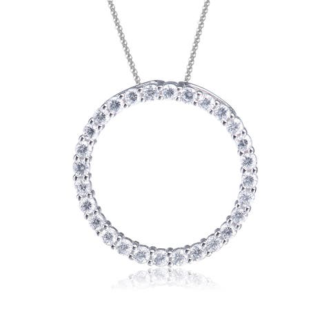 Collette Z Sterling Silver Cubic Zirconia Open Circle Necklace