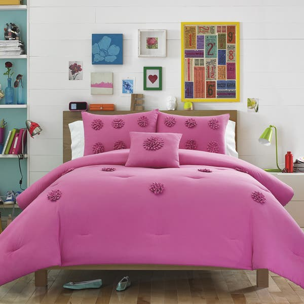 Teen Vogue Mimosa Pink Aqua 3-piece Comforter Set
