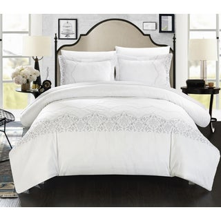 Chic Home Sandy Embroidered Bridal Collection 7-piece Duvet Cover Set