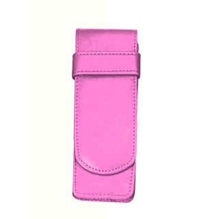 Royce Leather 2-slot Double Fountain Pen Case (Option: Carnation Pink)