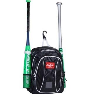 Rawlings Baseball Youth Backpack Black/ White