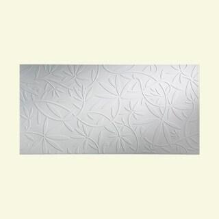 Fasade Audrey Gloss White 4-foot x 8-foot Wall Panel