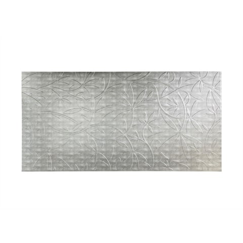 Fasade Audrey Crosshatch Silver 4-foot x 8-foot Wall Panel
