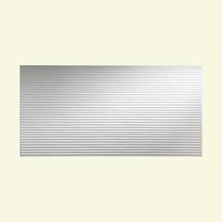 Fasade Bamboo Matte White 4-foot x 8-foot Wall Panel