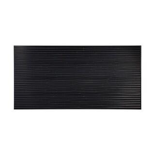 Fasade Bamboo Black 4-foot x 8-foot Wall Panel