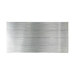 Fasade Bamboo Brushed Aluminum 4-foot x 8-foot Wall Panel
