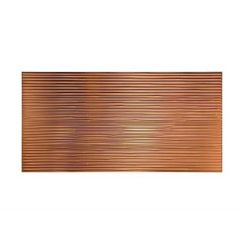 Fasade Bamboo Polished Copper 4-foot x 8-foot Wall Panel
