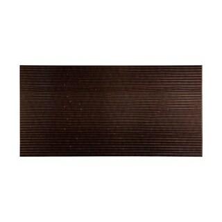 Fasade Bamboo Smoked Pewter 4-foot x 8-foot Wall Panel