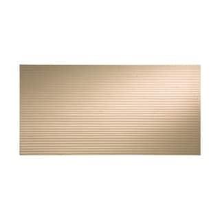 Fasade Bamboo Bisque 4-foot x 8-foot Wall Panel