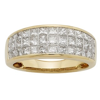 Sofia 14k Gold 1 1/2ct TDW IGL Certified Princess Cut Wedding Band