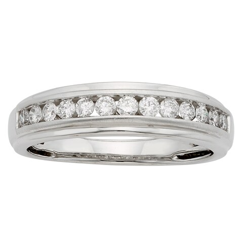 Sofia 14k Gold 1/2ct TDW Round Diamond Gents Ring - IGL Certified