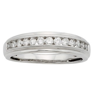 Sofia 14k Gold 1/2ct TDW Round Diamond Gents Ring - IGL Certified (More options available)