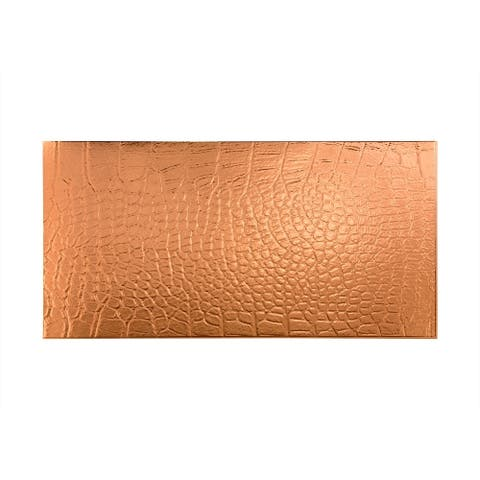 Fasade Cayman Polished Copper Wall Panel (4' x 8')