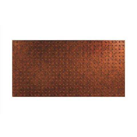 Fasade Dome Moonstone Copper Wall Panel (4' x 8')