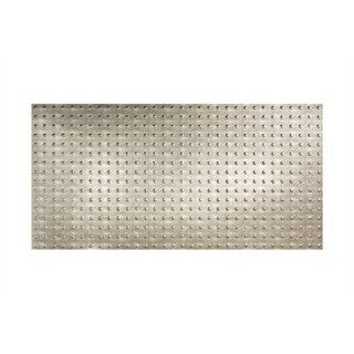 Fasade Dome Crosshatch Silver Wall Panel (4' x 8')